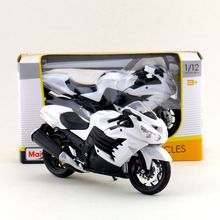 Maisto/1:12 Scale/Simulation Diecast model motorcycle toy/KAWASAKI Ninja ZX-14R Supercross/Delicate children's toy/Colllection