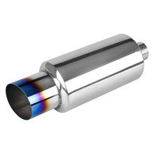 Modified 5*10 stainless steel can exhaust muffler tail throat manufacturers selling cars