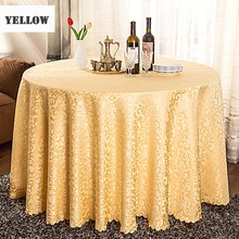 Hot 5pcs/lot Multi Size Europe Jacquard Polyester Table Cloth Round For Hotel Restaurant Decoration Home Decor Tablecloth Cover
