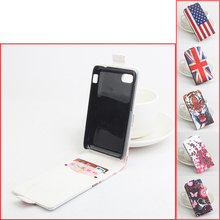 Luxury paintign PU phone Cover for Blackberry Q10 fashion Case with 2 card slots different styles patterns