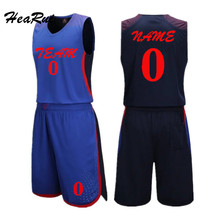 Hearui Custom Dream Team Blank Basketball Jersey Men High Quality Basketball Sports Clothes Professional Retro Training Suit