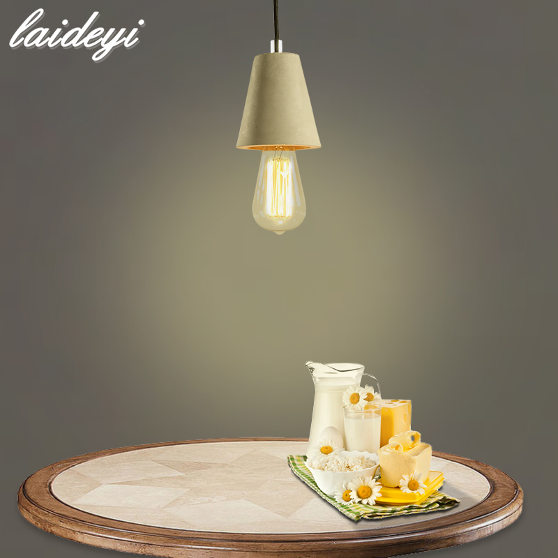 LAIDEYI Vintage Pendant Light American Country Style E27 Socket Cement Lamp Holder Indoor Decoration Hanging Light Fixture<br>