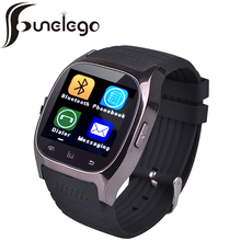 Funelego Bluetooth Hour Watch Smart Clocks Waterproof Sport Smartwatch Android Wearable Electronics Men Wrist Watches Cell phone(China)