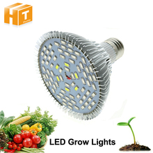 Full Spectrum Led Grow Light 10W/30W/50W/80W Red Blue UV IR Led Growing Lamp For Hydroponics Flowers Plants Vegetables(China)
