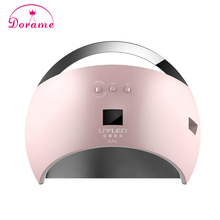 New style Portable SUN6 48W UV Lamp Nail Dryer for Nail Gel Unique Low Heat mode Time Setting Led Lamp For Nails with display