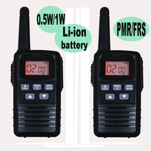 2PCS Multi-standard License Free Handheld Walkie Talkie Use Li-ion Battery 0.5W/1W Optional Power PMR/FRS Two Way Radio 8/22CH