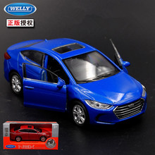 1pc 1:36 11.5cm delicacy WELLY HYUNDAI Elantra car pull back alloy model collection decoration boy toy gift(China)