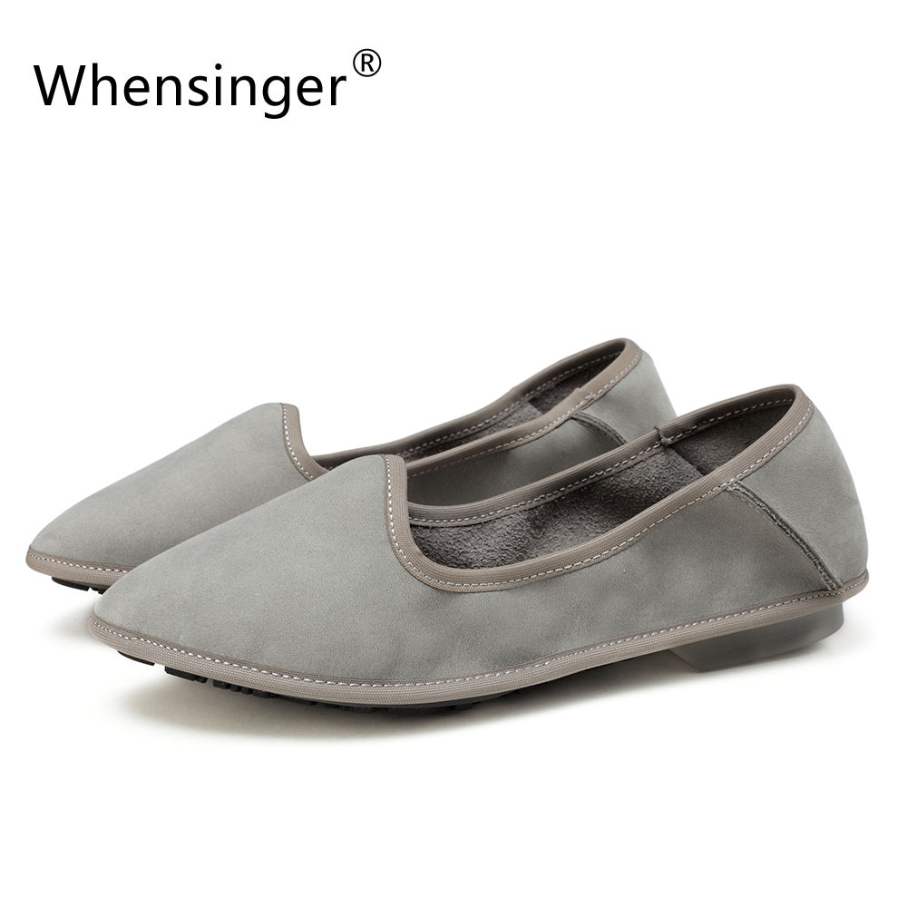 Whensinger - 2017 New Arrival  Woman Shoes Ultrathin Genuine Leather Flats 116<br>