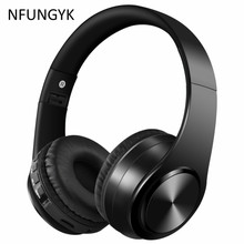 New year  Bluetooth earphone headphone sport Support TF FM radio bass for iphone computer best headphone wireless with mic(China)