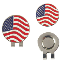 Golf Ball Marker Golf hat Clip Flag of the States United Alloy marker free shipping(China)