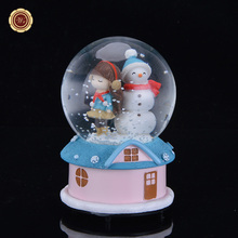 2016 New Arrival Crystal Ball Music Glass Ball Snow Creative Children Birthday Gift