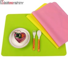 BalleenShiny 30*40cm Food Grade Silicone Heat Insulation Tableware Placemat Non Slip Baking Mats
