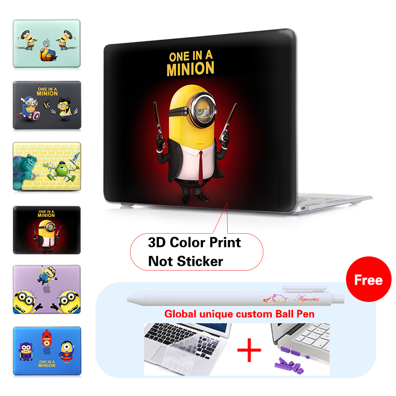 Minion sharpshooter Print Laptop Sleeve For Mac book Bag Cases For Macbook air 11 13 inch Pro Retina 12 13 15 Cover 3 Girls<br><br>Aliexpress