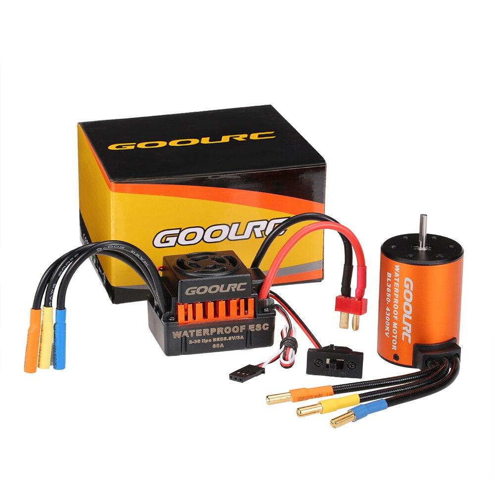 GoolRC Moteur 3650 3660 F540 3500KV 3100KV 3300KV 3800KV 3900KV 4300KV 4370KV Brushless Motor 45A 60A ESC for RC Car 110 Parts (2)