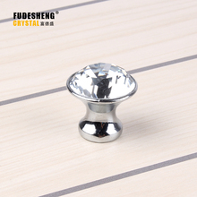 New 10pcs 25mm K9 Crystal Cabinet Knobs Furniture Hardware Drawer Handles Wardrobe Pulls Cupboard Shoes Box Knobs(China)