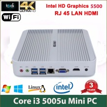 Cheapest Mini PC Windows 10 Barebone Computer Intel Core i3 5005U 2GHz HD 5500 Graphics 4K HTPC minipc HDMI VGA Htpc Wifi Linux(China)