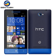 Original HTC Windows Phone 8S Unlocked Cell Phone Dual core  4GB ROM GPS WIFI 4.0''TouchScreen 5MP Camera 8s phone