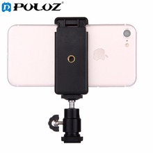 PULUZ 1/4 inch Hot Shoe Tripod Head + Tripod Stand Clamp for iPhone, Samsung, Huawei, HTC, 5.5cm - 8cm Width Smartphones(China)