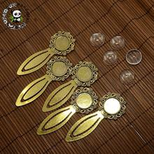 18mm Clear Domed Glass Cabochon Cover for Antique Golden DIY Alloy Portrait Bookmark Making, Cadmium Free & Nickel Free & Lead(China)