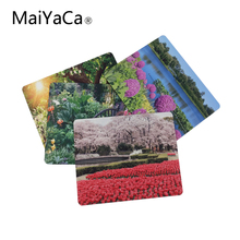 MaiYaCa Beautiful Garden Rubber Soft gaming mouse Cool Games black mouse pad(China)