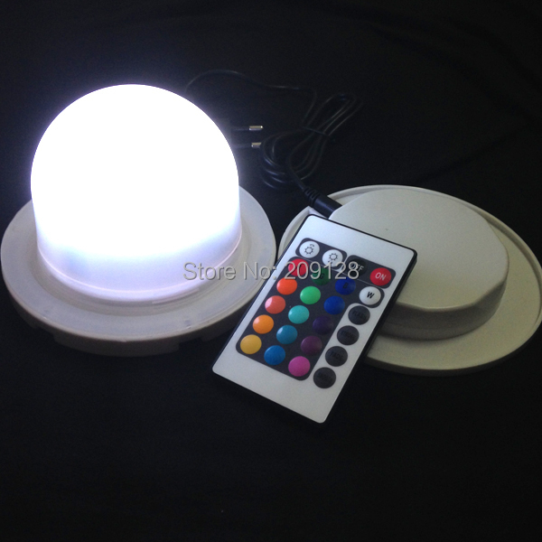 12cm induction charge waterproof colours change wireless led lighting control system for event or wedding - Christmas Light Control System