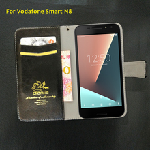 TOP New! Vodafone Smart N8 Case 5 Colors Flip Luxury Leather Case Exclusive Phone Cover Credit Card Holder Wallet+Tracking(China)