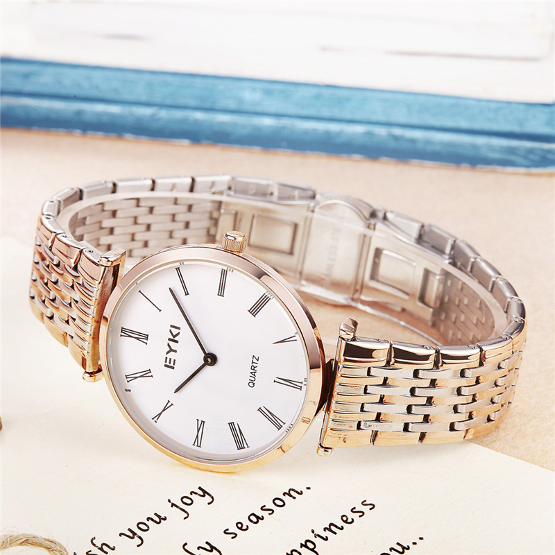 Ultra Thin Watch Men Women Fashion Simple Mens Watches Ladies Unisex Dress Wristwatch Gold Stainless Steel Clock montres femme<br>