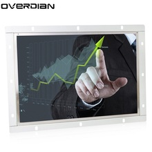 "15.6""/15"" Industrial Control LCD Non-Touch Monitor VGA/HDMI/TV/AV Interface Metal Shell White Open Frame1366*768(China)"
