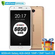 "Original Ulefone Power 2 Smartphone 5.5"" FHD MTK6750T Octa Core Android 7.0 4GB+64GB 16MP 6050mAh Big Battery 4G Cellphone(China)"