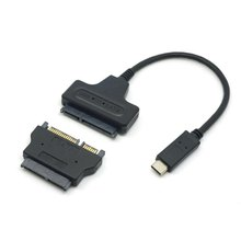 "1set USB 3.1 Type C to SATA 22Pin & SATA to 16Pin Micro SATA Adapter Connector Adaptor for 1.8"" 2.5"" Hard Disk Driver"