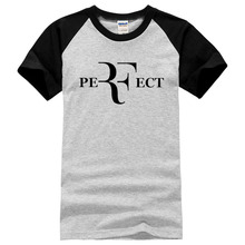 new fashion men roger federer  perfect print t shirt hip hop male brand clothes short sleeve cotton top 2017 summer new style