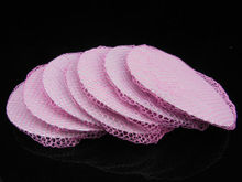 women invisible Bun Cover Snood Hair Net Ballet Dance Skating Crochet hairnet pink color