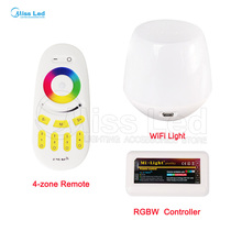 2.4G 4-zone RGBW LED Controller,Wireless RF Touch Remote,WiFi Mi-Light For 3825 5050 RGB Modules Strip Different Combination