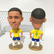 Soccerwe Stand 9 Gabriel Jesus Doll Brasil 2017 Yellow Kit(China)