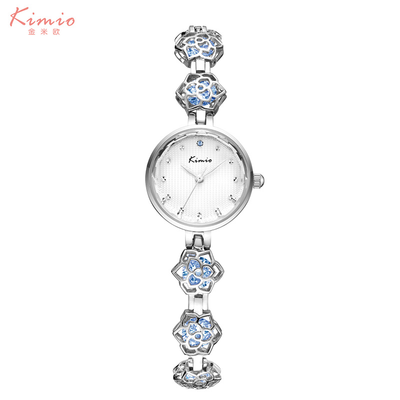 Luxury Fashion Ladies Watch 2017 New Kimio Womens Watches Brand Waterproof Jewel Bracelet Strap Colorful diamond Quartz Watch<br><br>Aliexpress