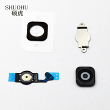 SHUOHU brand for iPhone 5 5G Home Button Flex Home Button Menu with Flex Cable Key Cap Black & White(China)