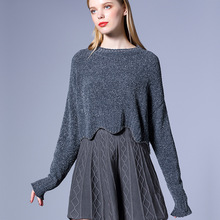 Woman Wool knitting Clothes Fashion Short Sweater Cost For female Short wave Style Pullovers Of 2017 Autumn Winter(China)