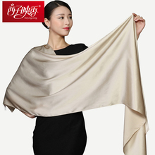 2017 Autumn 100% Natural Silk Scarves Winter Women Silk Scarf Luxury Brand Scarf Shawl Scarves Long Muslim Hijab Shawls Pashmine(China)