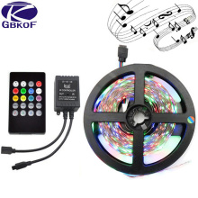 3528 LED Strip 60 LED/m DC12V Flexible LED Light RGB LED Strip 3528/2835 led tape ribbon set with 24Keys/Music remote controller