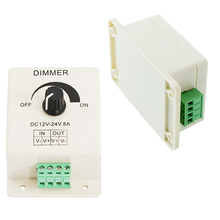 LED Switch Dimmer Adjust Brightness PWM Controller For 3528 5050 Led Strip Office Lamp Strip Light  DC12V 24V