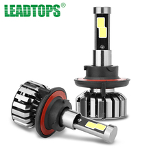 LEADTOPS Super Bright Auto Car Headlight H1 H3 H 7H8 H9 H11 H4 9003 LED 9005 9007 Automobiles Headlamp Bulb 80W 6000K 200m DJ(China)