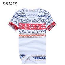 E-BAIHUI summer style mens t shirts fashion printing Clothing Swag Men brand T-shirts Camiseta Tee Skate Moleton t shirt Y026(China)