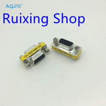 New Female to Female VGA HD15 Pin Gender Changer Convertor Adapter Free Shipping 15Pin Wholesale AQJG