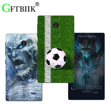 For Nokia X Dual SIM A110 RM-980 Case Hard Pattern Colored Cases Fashion Printing Phone Bag Flower Shell New Game of Thrones 7(China)