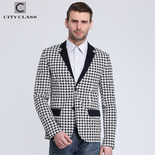 City Class 2016 New Spring Mens Blazer Fashion Slim Fit Bussiness Casual Suits Eupo Size Jackets Veste Costume Homme 6009