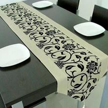 Retro funky design table runner Flower Tablecloth Kitchen home decor Wedding Party Supplies 200cmX33cm