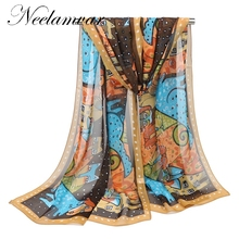 2017 Newly Design Women Ladies cat dog Cartoon Print Scarf Warm Wrap Animal Bufandas Mujer Female Pashmina Shawls(China)