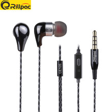Rillpac CE10S With Mic and Remote Noise Isolating In-Ear Hifi Stereo Earphones for all smartphones
