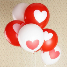 10pcs/lot Heart Balloons For Couples Printed 12 Inch Romantic Decorate Baloon Decoracion De Cumpleanos