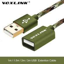 USB Extension cable VOXLINK USB 2.0 Male to Female USB Extension Data Sync Cord Cable Adapter Connector For PC Laptop